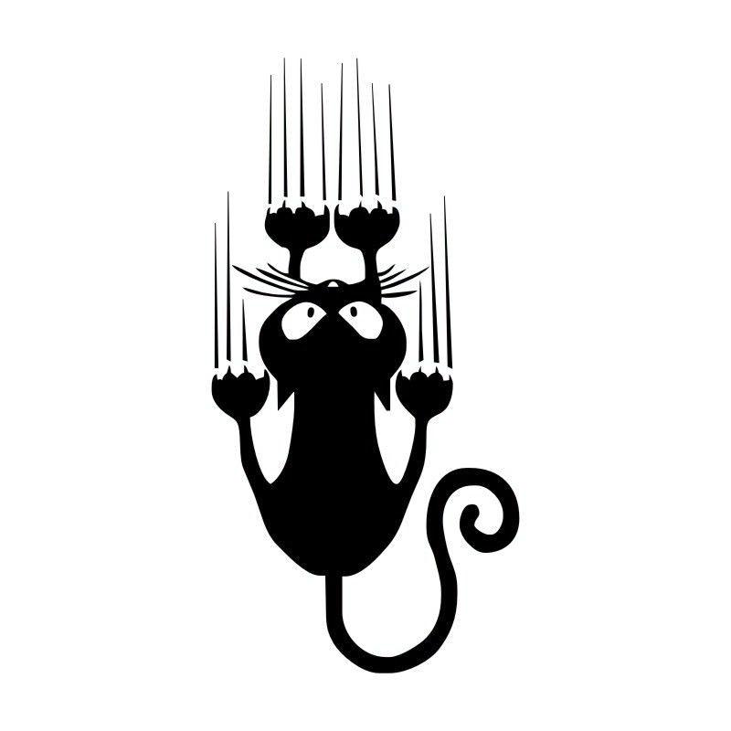 7 515cm waterproof cat pattern car sticker funny animal vinyl decal car window bumper stickers c4 0636